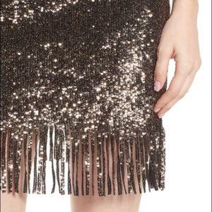 Nordstrom Bardot Sequin Fringe Skirt